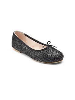 2fc8c8cdb133 Bloch. Girl's Sparkle Ballet Flats