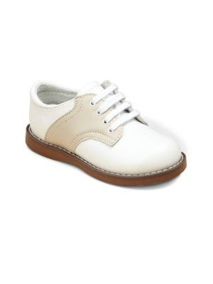 Toddler's & Kid's Leather Saddle Oxford Shoes