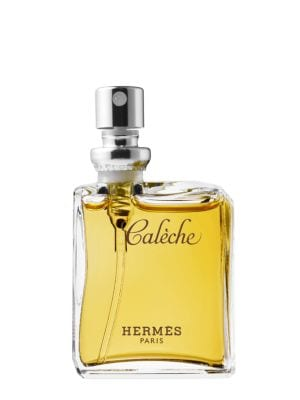 "Image of """"Caleche or the essence of classicism. Seduction through the beauty of the soul."" Jean-Claude Ellena. Composed by Guy Robert in 1961, Caleche is the first women's fragrance from Hermes. It is a very feminine woody, chypre floral, whose name refers to the"
