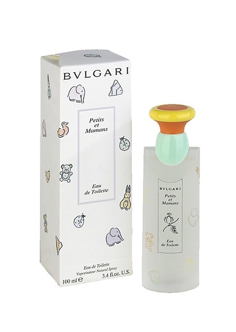 Image of The exclusive fragrance entirely dedicated to children and their mothers is now also available in an eau de toilette. BVLGARI chose the most gentle type of tea, Chamomile, as the main ingredient enriched by an original talc note. 3.4 oz. Made in Italy.