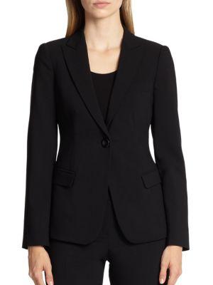 Armani Collezioni  One-Button Featherweight Wool Jacket