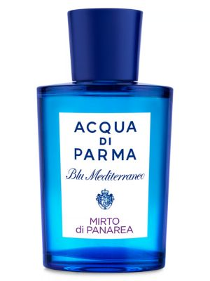 Image of An island suspended in time. The smallest and oldest of the Eolie island. Brought to life by a fragrance characterized by the aromatic notes of myrtle and basil together with lemon and bergamot. At the heart, a sea breeze accord melts with jasmine and ros