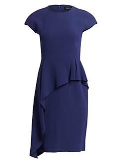 06dd6da1 Teri Jon by Rickie Freeman. Asymmetrical Peplum Dress