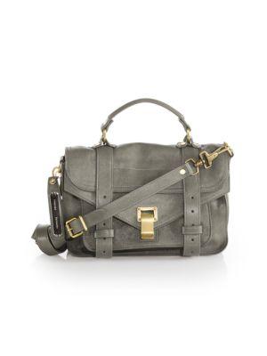 Proenza Schouler Ps1 Tiny Crossbody Satchel Bag, Midnight In Smoke 0a34ef276c