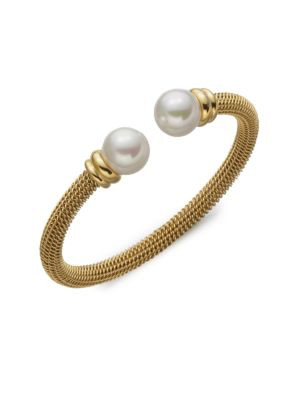 12 Mm White Pearl Tipped Bracelet by Majorica
