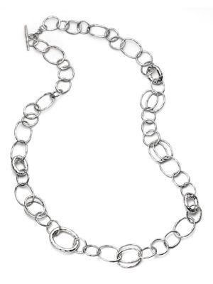 Ippolita Glamazon Sterling Silver Bastille Element Link Chain Necklace