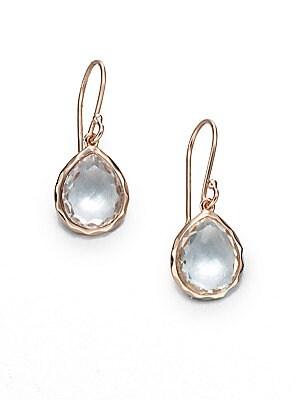Ippolita Ros 233 Rock Candy Clear Quartz Y Teardrop Earrings