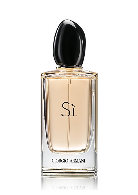 Image of Experience Si, the new fragrance by Giorgio Armani. This luminous fragrance has been created for the modern woman who's strong yet feminine, sophisticated yet charismatic. She embodies the very essence of chic Italian elegance and style. She says YES to l