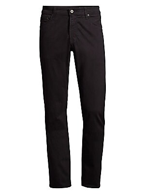 "Image of A tailored, straight-leg fit in an unconventional hue constructed of sueded brushed cotton Five-pocket style Zip fly Rise, about 10"" Inseam, about 34"" Leg opening, about 15.5"" Cotton/elastane Machine wash Made in USA of Italian fabric. Men Adv Contemp - C"