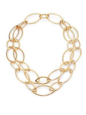 VHERNIER Pop 18K Rose Gold Marquis Chain Necklace