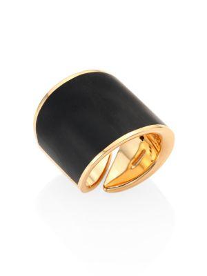 VHERNIER Vague 18K Rose Gold Ring in Black-Gold