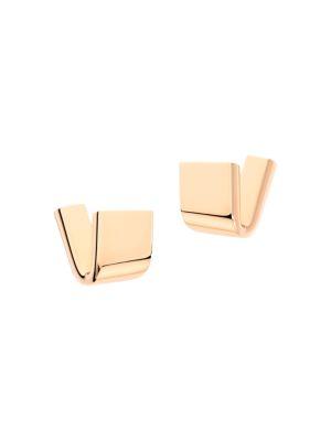 VHERNIER Diapason 18K Rose Gold Clip-On Earrings