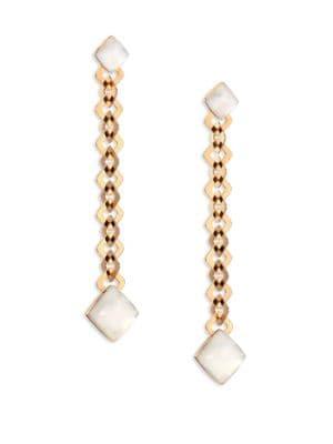 VHERNIER Pan Di Zucchero Sunflower Quartz, Mother-Of-Pearl & 18K Rose Gold Drop Earrings