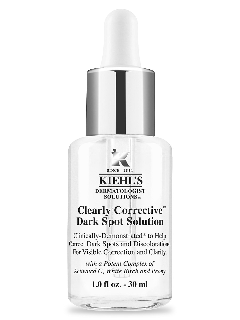 Kiehl's Since 1851 1851 Women's Clearly Corrective Dark Spot Solution In Size 1.7 Oz. & Under