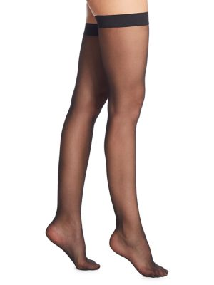 Thigh Highs - Individual 10 Stay-Up #021663, Black