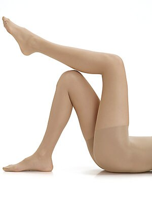 Image of 10 denier sheer matte hose with control top for beautiful shape and support. Cotton gusset Reinforced toe Polyamide/elastene/cotton; hand wash Imported. Lingerie - Wolford Hosiery > Saks Fifth Avenue. Wolford. Color: Cosmetic. Size: L.