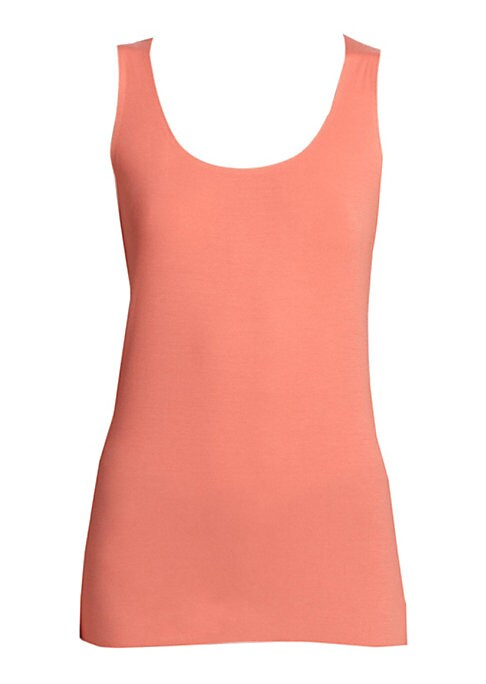 Image of This figure-skimming tank top, rendered in luxe stretch modal, is ideal for layering or wearing alone. Scoopneck. Sleeveless. Pullover style. Modal/elastane. Machine wash. Made in Austria.