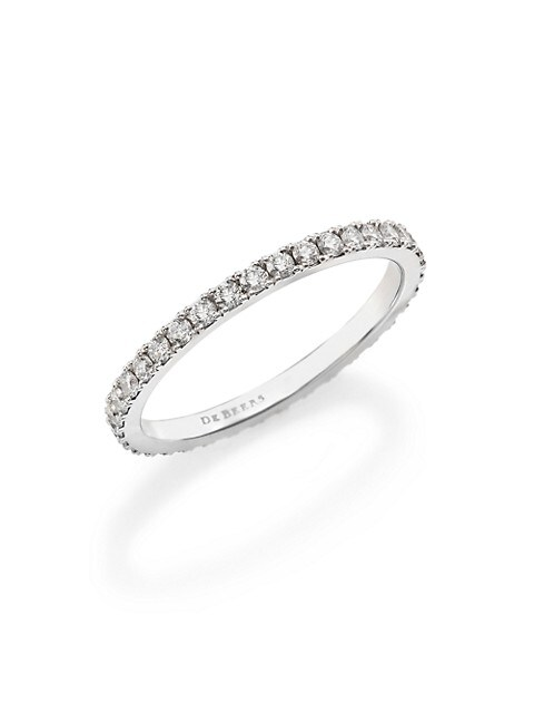 Classic Diamond & Platinum Full Eternity Band Ring