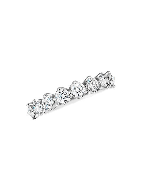 Allegria 18K White Gold & Diamond Half-Band Eternity Ring