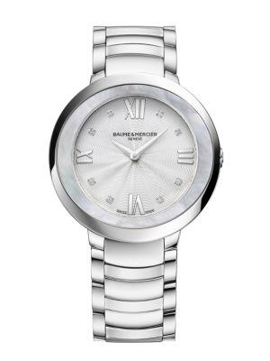 BAUME & MERCIER Promesse 10178 Stainless Steel Bracelet Watch in Silver
