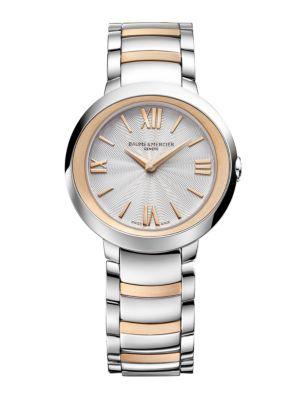 BAUME & MERCIER Promesse 10159 Two-Tone Bracelet Watch in Silver-Rose Gold