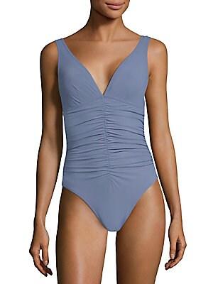 771f3228f15 Karla Colletto Swim - V-Neck Underwire Swimsuit - saks.com