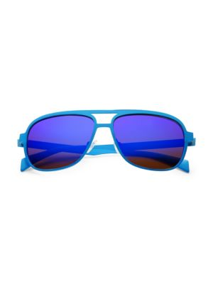ITALIA INDEPENDENT 60Mm Aviator Sunglasses in Sky