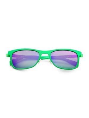 ITALIA INDEPENDENT Metal Sunglasses in Green