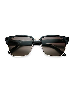 6b45921916e Tom Ford - Snowdon Rectangular 52MM Acetate Sunglasses - saks.com
