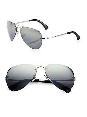 2145cd1afe76 Ray-Ban - RB3449 Semi-Rimless Aviator Sunglasses - saks.com