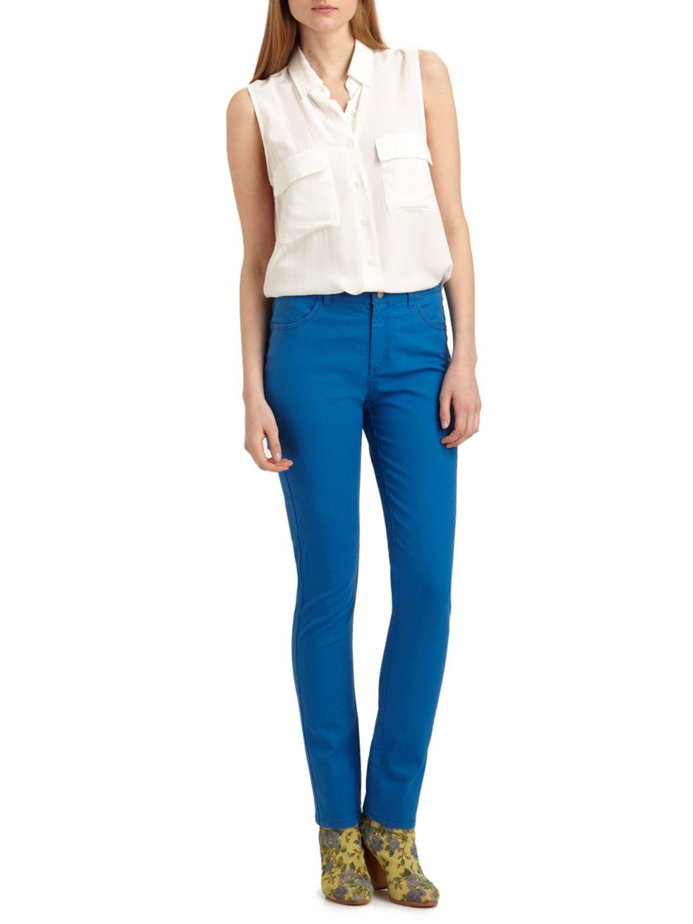 Lafayette 148 New York Thompson Mid-Rise Slim-Fit Jeans | SaksFifthAvenue