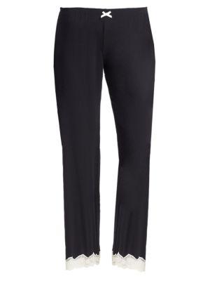 Lady Godiva Pajama Pants in Black Off White
