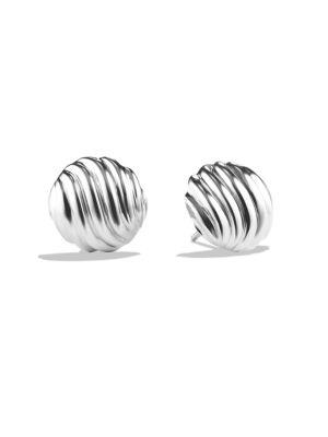 DAVID YURMAN Sculpted Cable Earrings in Silver
