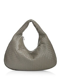 97169692a195 Product image. QUICK VIEW. Bottega Veneta. Veneta Large Leather Hobo Bag