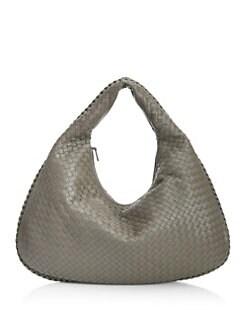 97169692a195 Product image. QUICK VIEW. Bottega Veneta. Veneta Large Leather Hobo Bag