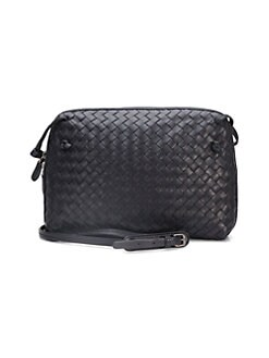 44bbc7fafc37 QUICK VIEW. Bottega Veneta. Small Leather Messenger Bag