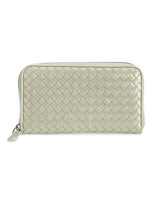 386c3cb7a8d87e Bottega Veneta - Intrecciato Zip Continental Leather Wallet - saks.com