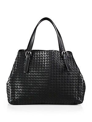 136e3d1ad00c Bottega Veneta - Basket Weave Leather Tote - saks.com