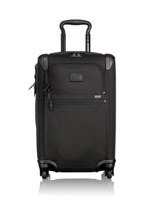 Alpha 2 International Expandable 4-Wheeled Carry-On, Black