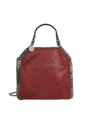 Stella Mccartney Mini Baby Bella Shaggy Deer Tote In Ruby