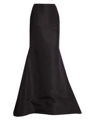 Silk Faille Long Trumpet Skirt thumbnail