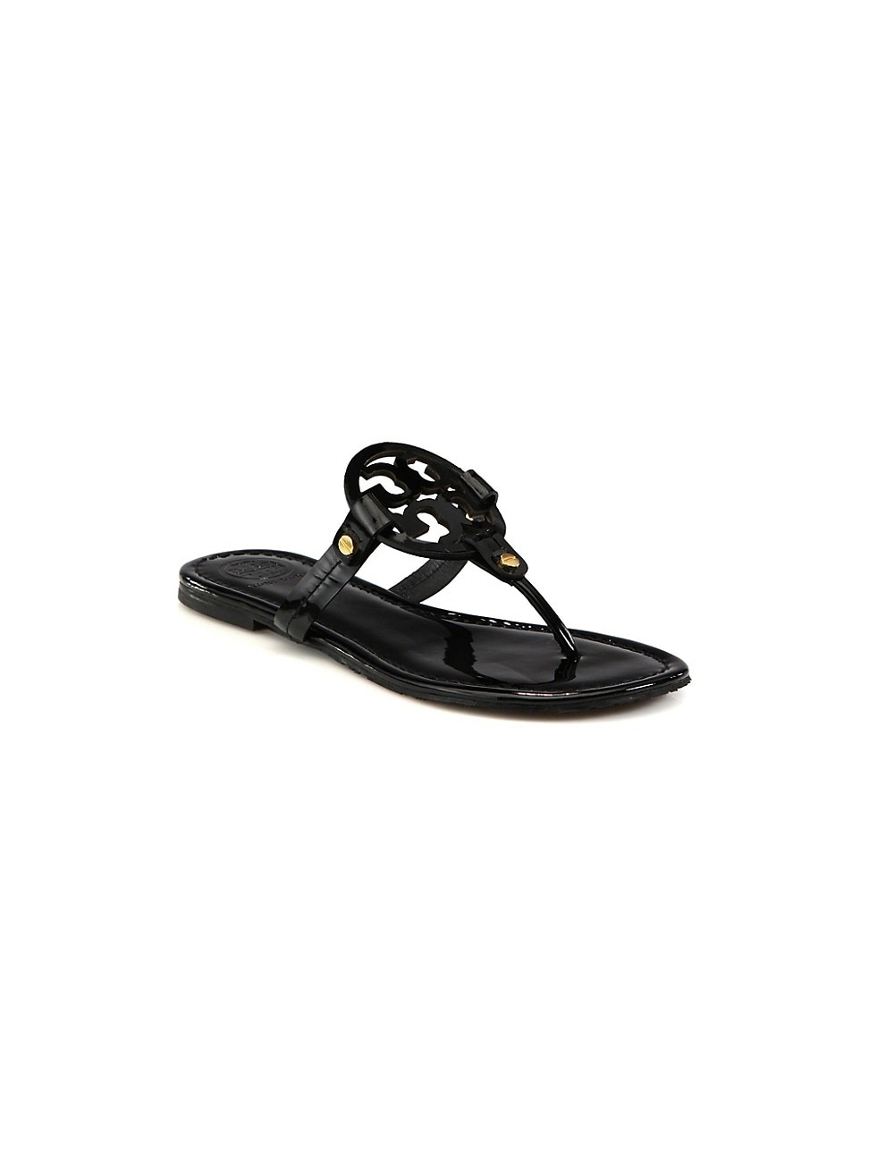 Tory Burch WOMEN'S MILLER PATENT LEATHER THONG SANDALS