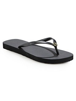 8c7ee67fad13af Logo Thong Flip Flops BLACK. QUICK VIEW. Product image. QUICK VIEW. Tory  Burch