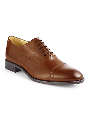 0a4eddaef1a Saks Fifth Avenue - COLLECTION Tyler Leather Cap Toe Oxfords - saks.com