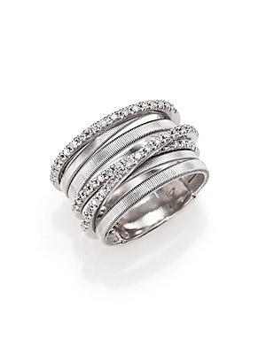 59a589499 Marco Bicego - Goa Diamond & 18K White Gold Seven-Strand Ring - saks.com