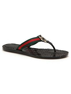 ff02b8560bf QUICK VIEW. Gucci. Web Strap Thong Sandals