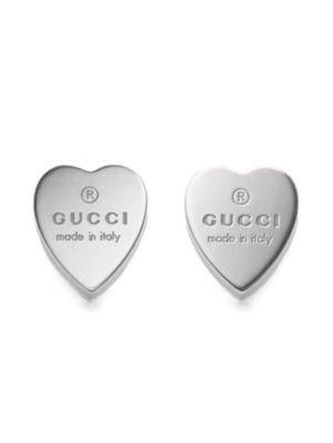 Sterling Silver Heart Earrings by Gucci