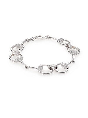 92a89be26b0f7 Gucci - Horsebit Diamond & 18K White Gold Bracelet