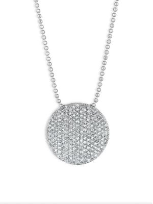 PHILLIPS HOUSE Pavé 14K White Gold & Diamond Large Infinity Disc Necklace