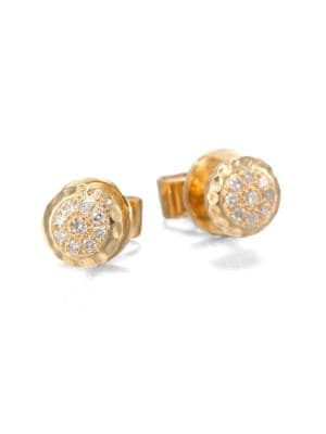 PHILLIPS HOUSE 14K Yellow Gold & Diamond Delicate Stud Earrings